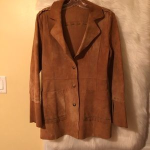Wilsons Leather Suede Coat Size M